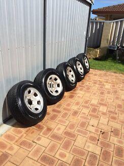 5x 245/70/16 on gu patrol wheels Marangaroo Wanneroo Area Preview