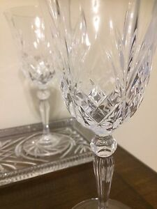 Wine Glasses with Real Vintage Crystal tray