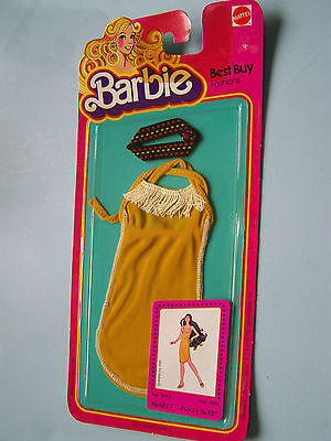 3633 BARBIE BEST BUY FASHIONS - (c) 1981  - Gold dress with fringe &