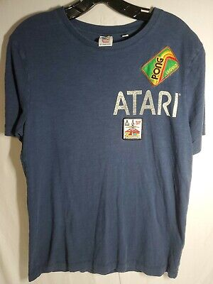 Atari Men's T-Shirt Pong Legend Video Game Junkfood Junk Food SIZE Small Retro