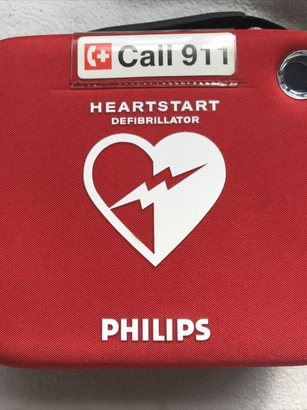 Philips M5066A Heartstart HS1 Onsite AED Defibrillator and Pads in Carry Case