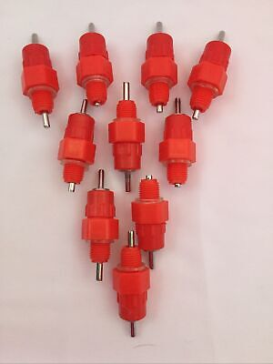10 Chicken Poultry Watering Nipples 516 New
