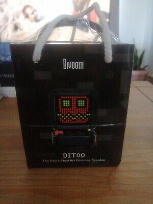 Divoom Ditoo Retro Pixel Art Game Bluetooth Speaker - Black