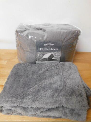 Berkshire Blanket Fluffie Sheet Set-Grey-Full-H216837-NIP