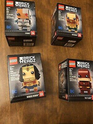 LEGO BrickHeadz Wonder Woman 41599 The Flash 41598 Aquaman 41600 Cyborg 41601