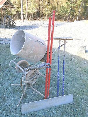 Lot 5 Concrete Tools Mortar Mixer Placers Sandsifter Marshalltown 48 Bull Float