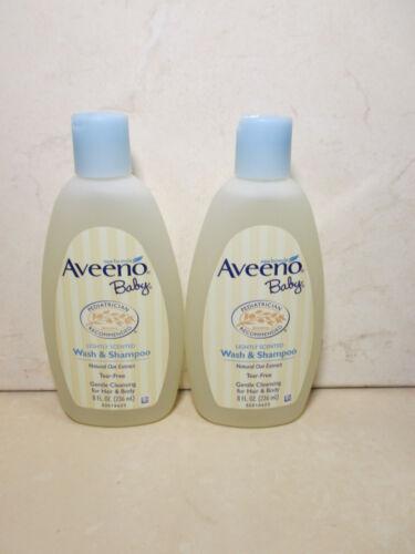 AVEENO BABY LIGHTLY SCENTED WASH & SHAMPOO 8 OZ (LOT OF 2)