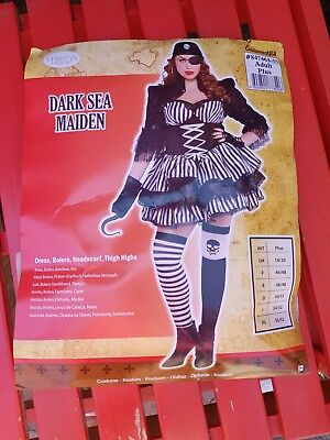 Christys Adult Fancy Dress Dark Sea Maiden Sexy Pirate 18-20 Christmas New Year