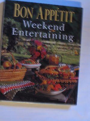 Hardback Menu Covers (Bon_Appetit_Weekend_Entertaining_Cookbook/Menus-Hard Cover/Dust Jacket-Likw New )