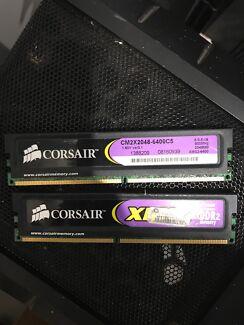 CORSAIR 4GB KIT / 2 X 2GB DDR2 800  RAM/2Rx8/1.8v/Dual-channel/CL5