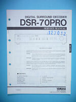 Service Manual Instructions For Yamaha Dsr-70 Pro, Original - yamaha - ebay.co.uk