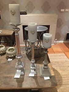 """Villa Maison"" candlesticks (3) Beaumaris Bayside Area Preview"