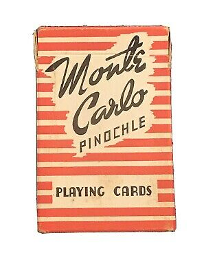 Vintage Monte Carlo Pinochle Playing Cards-Full Deck 48 Cards