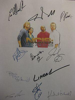 NCIS Los Angeles LA Signed Script X11 Chris O'Donnell Daniela Ruah Linda Hunt rp