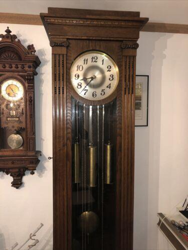 Winterhalder Röhrengong Standuhr Westminster 4/4 Schlag Jugendstil Antik Uhr