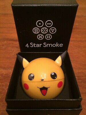 Pikachu Herb Grinder by 4 Star Smoke with black gift box