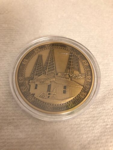 Huntley & Huntley Pittsburgh PA Centennial Oil Gas exploration Coin medallion