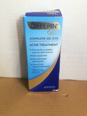 Differin Gel Adapalene Gel 0.1% Acne Treatment, 15g, 30 Day Supply 0.5 Ounce