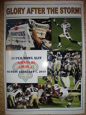 New Orleans Saints 31 Indianapolis Colts 17 - 2010 Super Bowl - souvenir print