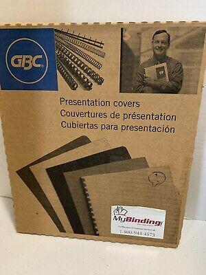 Gbc Clear Presentation Covers 100pcs. Nib. Unpunched