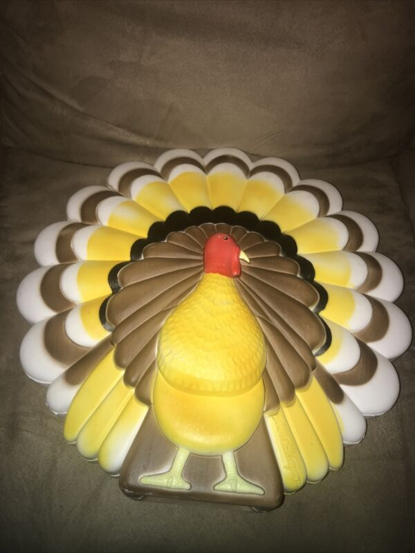 "Vintage Union Thanksgiving 20"" Lighted Blow Mold Only Turkey Don Featherstone"