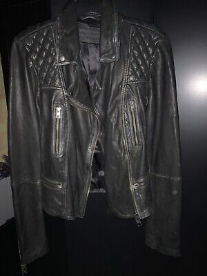 All Saints Cargo Leather Biker Jacket - Size 14. Brand New, without Tags