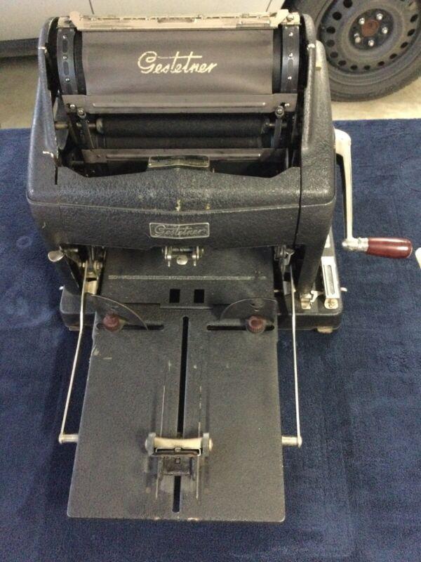Vintage Gestetner Duplicating Copy Machine All Original Rare Collectible