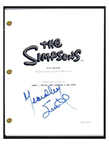 Yeardley Smith Signed Autographed THE SIMPSONS Pilot Episode Script Lisa COA