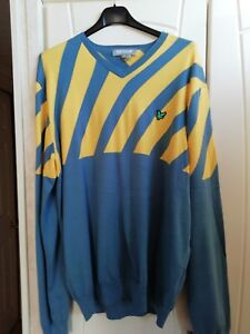 lyle and scott XL blue and yellow jumper