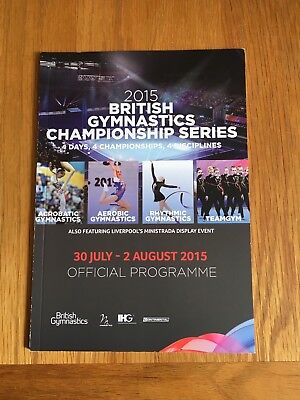 BRITISH GYMNASTICS CHAMPIONSHIP SERIES 2015- COLLECTABLE PROGRAMME