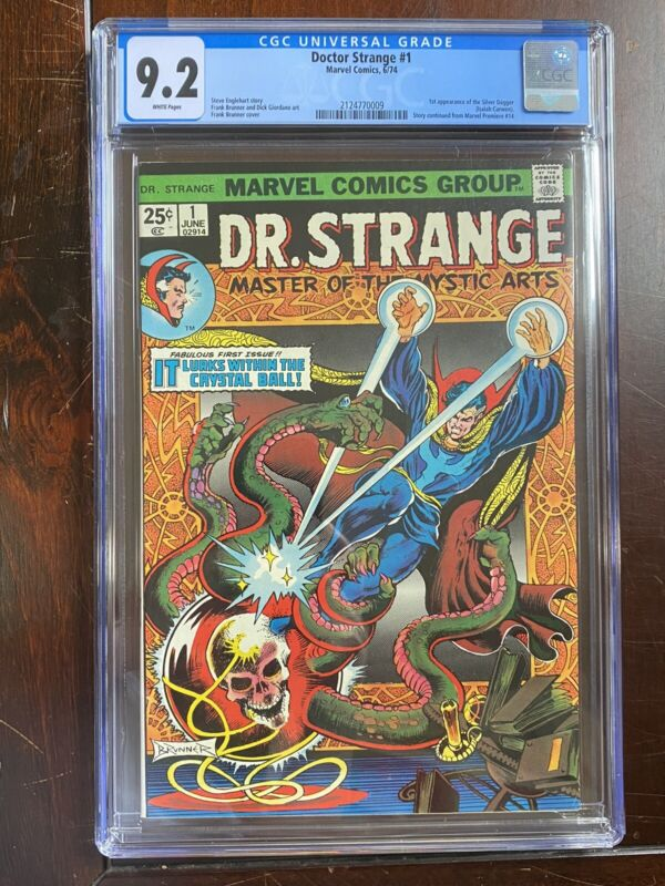 Doctor Strange #1 (1974) CGC 9.2 - White Pages - 1st App of SILVER DAGGER