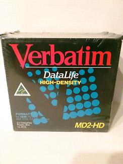 "VERBATIM 5 1/4"" DISKETTES, 10 DISKETTES NEW/OLD STOCK SEALED"