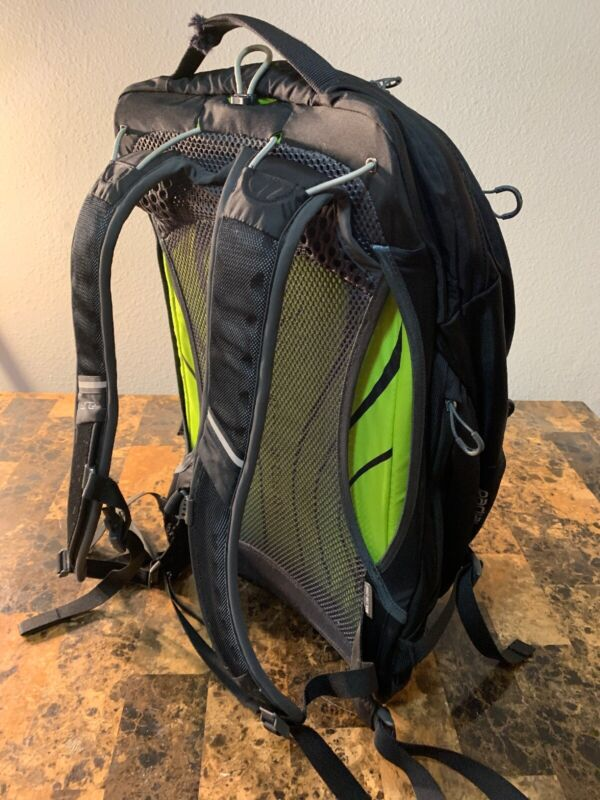 Osprey Radial 34 Backpack Small/Medium Black Defective Straps Have Been Cut