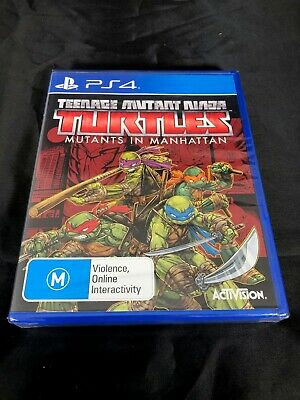 PS4 TEENAGE MUTANT NINJA TURTLES MUTANTS IN MANHATTAN game new