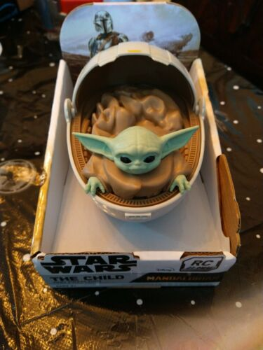 STAR WARS THE CHILD GROGU AND PRAM Hover Pod Carrier. RC 27 MHz The Mandalorian - $11.99
