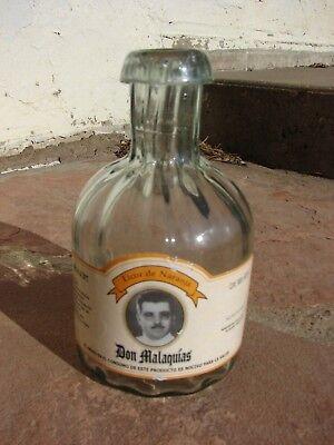 DON MALAQUIAS Tequila Vacuous Bottle Hand Blown 600ml