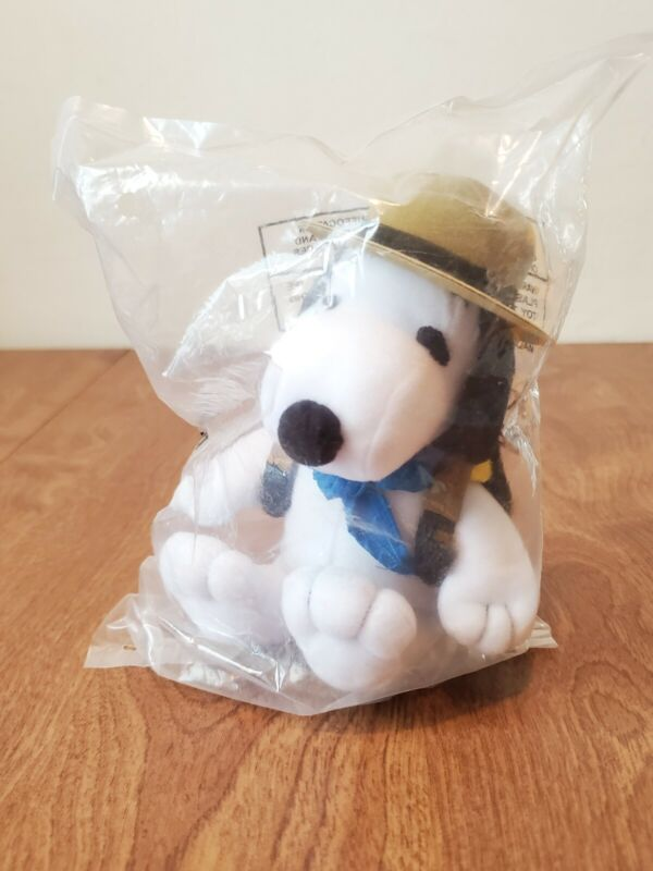 """Metlife Peanuts SNOOPY Beagle Scout Tricot 5"""" New Sealed BAG Woodstock Backpack"""