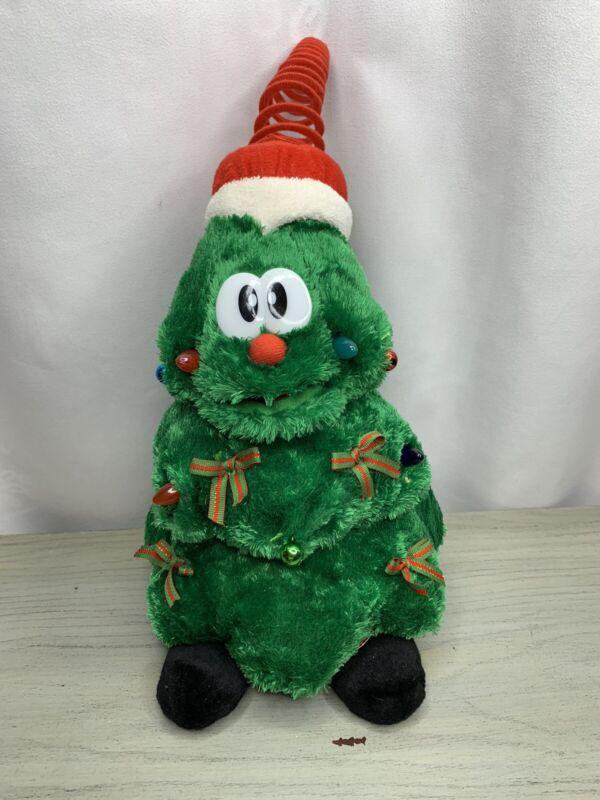 Vtg Sound N Light Animatronics Dancing Singing Christmas Tree Plush 90