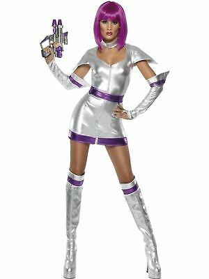 Space Girl Cadet Ladies Fancy Dress Hen Party Costume Outfit Adult Sexy Scifi