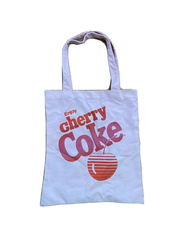 Coca Cola Enjoy Cherry Coke Pink Tote Bag - Perfect Condition No Flaws Canvas