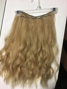 "18"" natural blonde hair extensions"