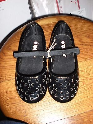 Kidgets Heart Ballerina Black Footwear Size 10 Toddler Girls New  Girl Black Footwear