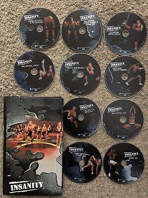 Insanity 60 Day Total Body Workout Program 10 Disc DVD Set By Shaun T Beachbody