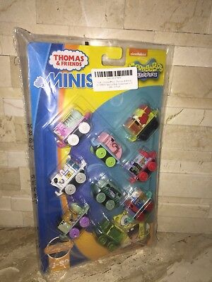 THOMAS & FRIENDS SPONGEBOB SQUAREPANTS MINIS SET OF 9