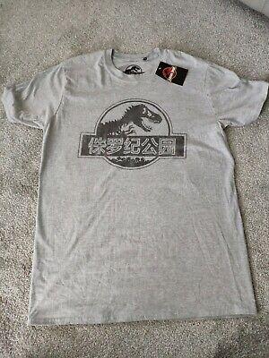 Brand New -Jurassic Park Mens T-Shirt - Mono Chinese Logo - Medium...