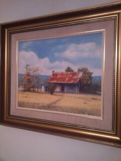 Oil Painting by Win Williams. Watercolour by Gladstone Eyre