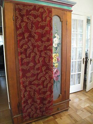 1~VELOUR DEEP RED CRANBERRY CURTAIN PANEL #73 ()