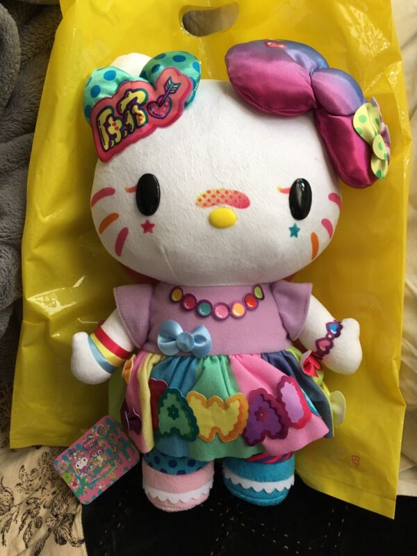 RARE! Hello kitty Plush doll 6%dokidoki KMC colorful Kawaii monster US Seller