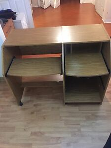 Computer small strong desk.