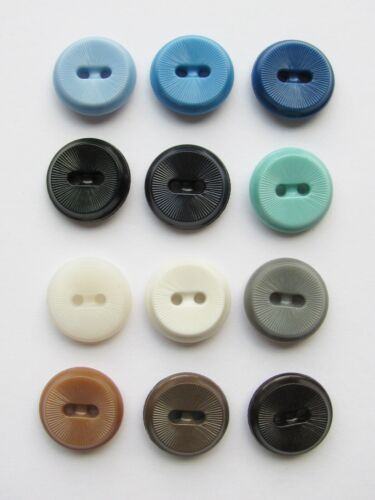 Lot of 12 Different Color Vintage Colt Buttons Pattern 47 Georgetown